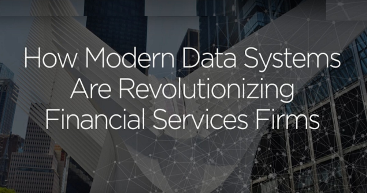 Modern Data Architecture for Financial Services