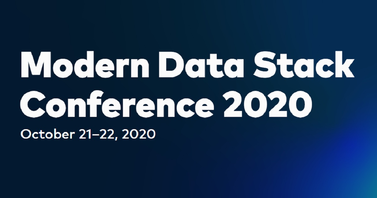 Modern Data Stack Conference 2020