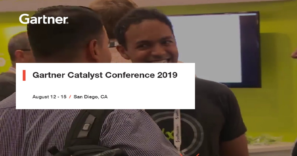 Gartners Catalyst Conference 2019