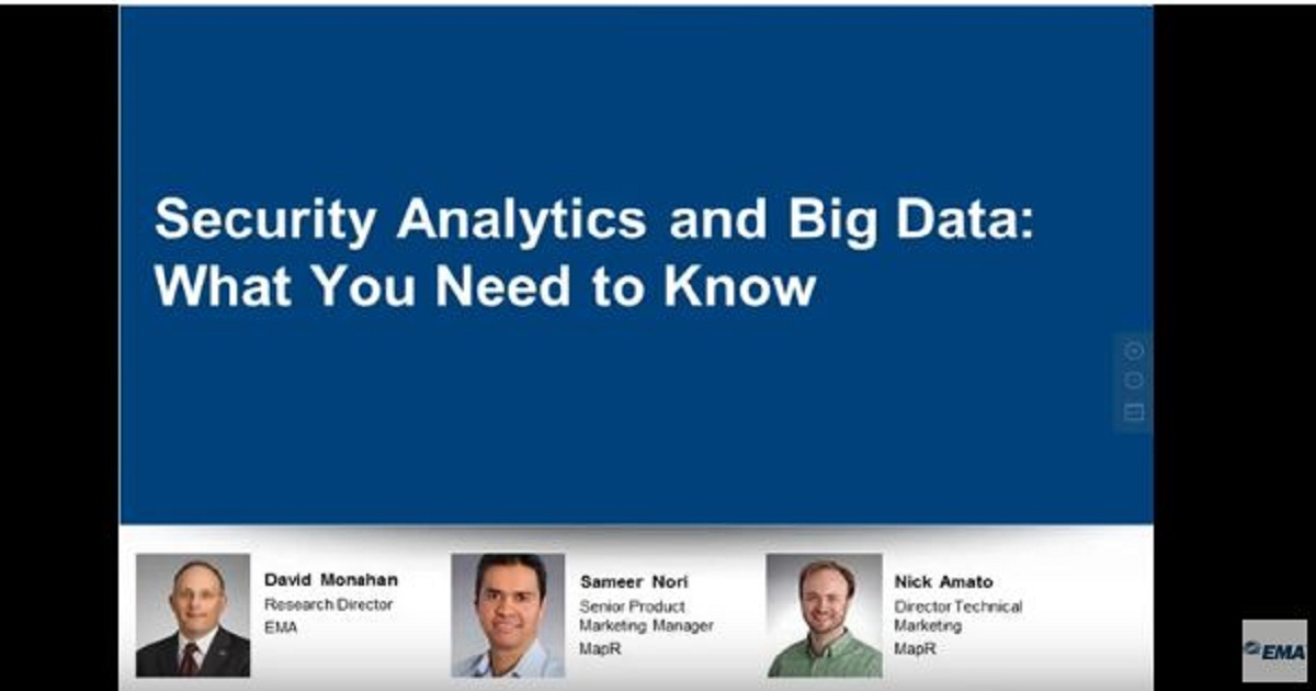 Security Analytics and Big Data: What You Need to Know