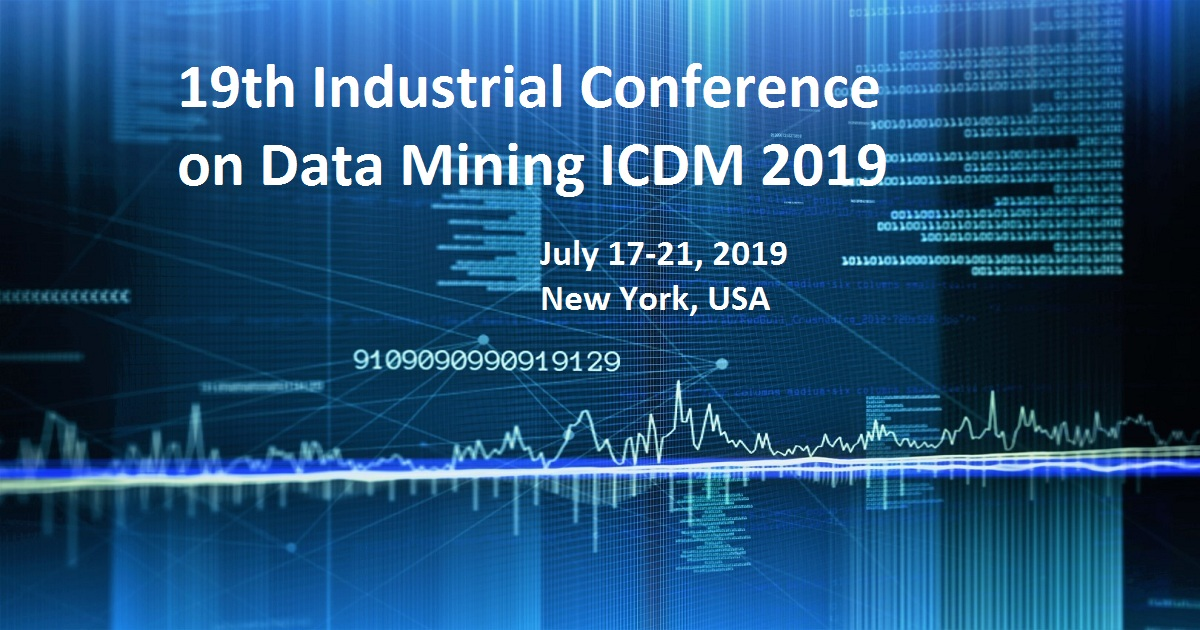 19th Industrial Conference on Data Mining ICDM 2019