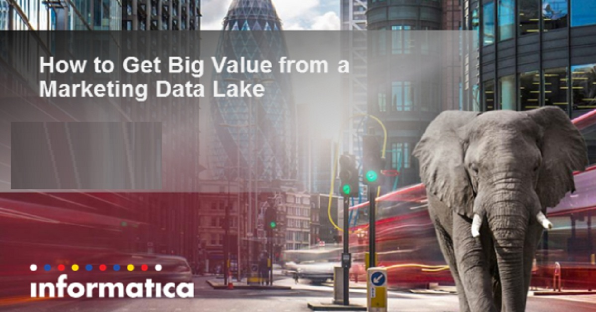 How to Get Big Value from a Marketing Data Lake using Big Data Management 10.1