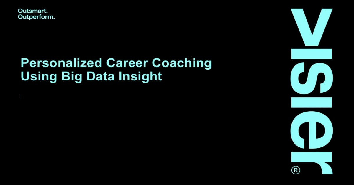 Personalized Career Coaching Using Big Data Insight