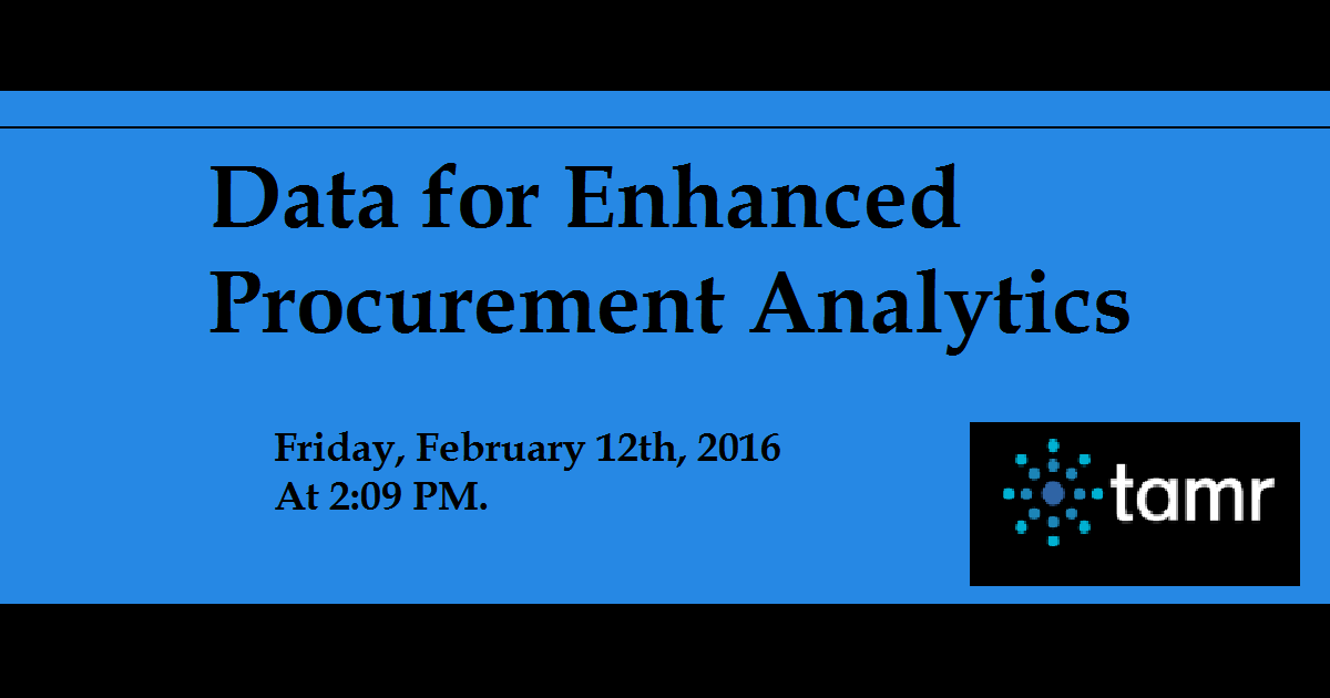 Data for Enhanced Procurement Analytics