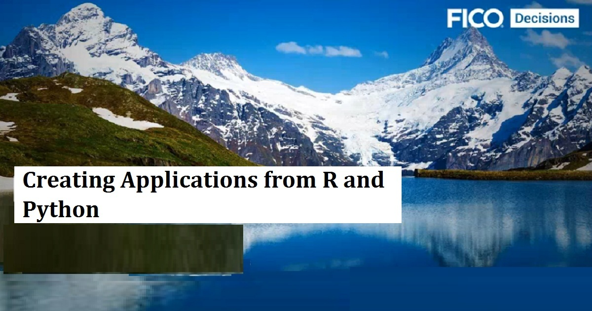 Creating Applications from R and Python