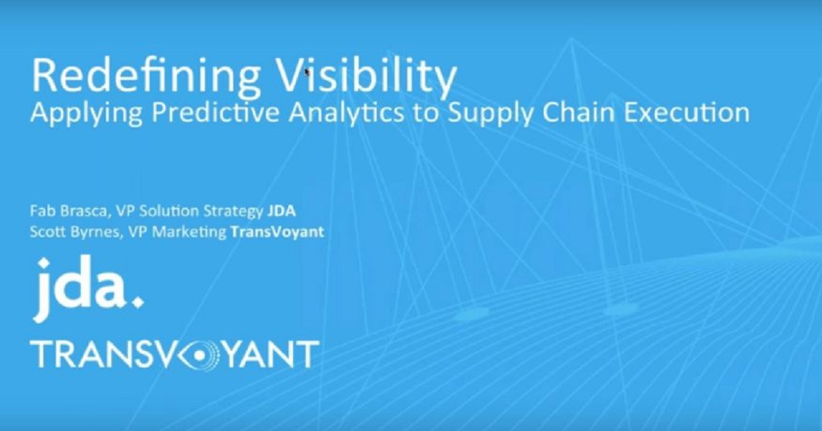 Supply Chain Transformation Using Real-Time Big Data and Predictive Analytics
