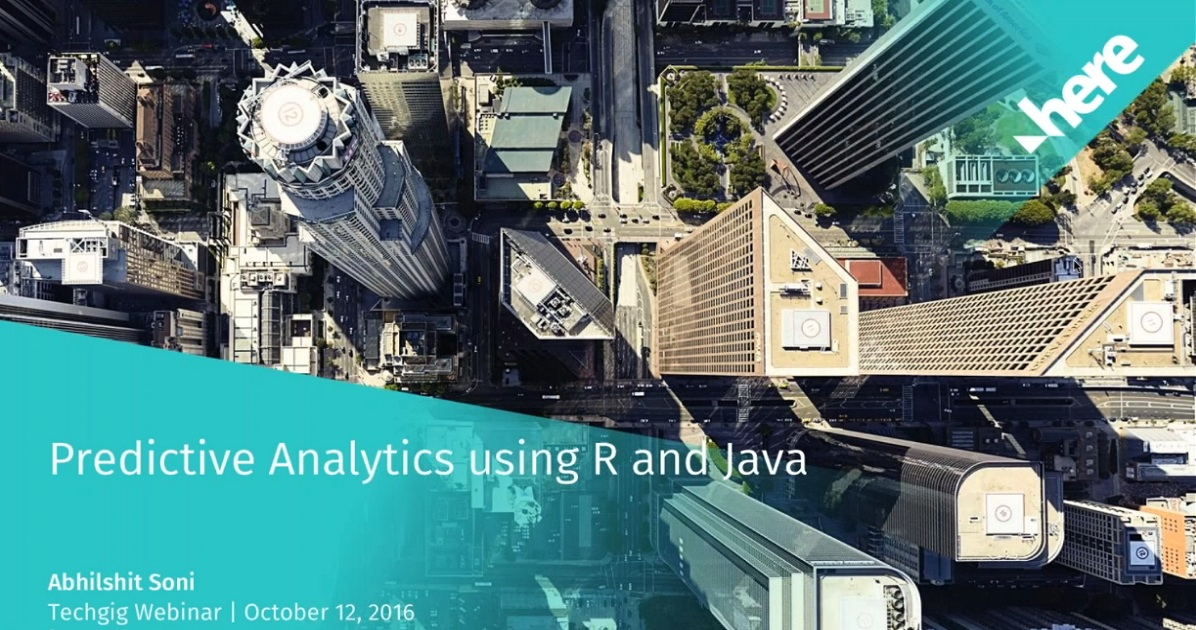 Predictive Analytics using R and Java