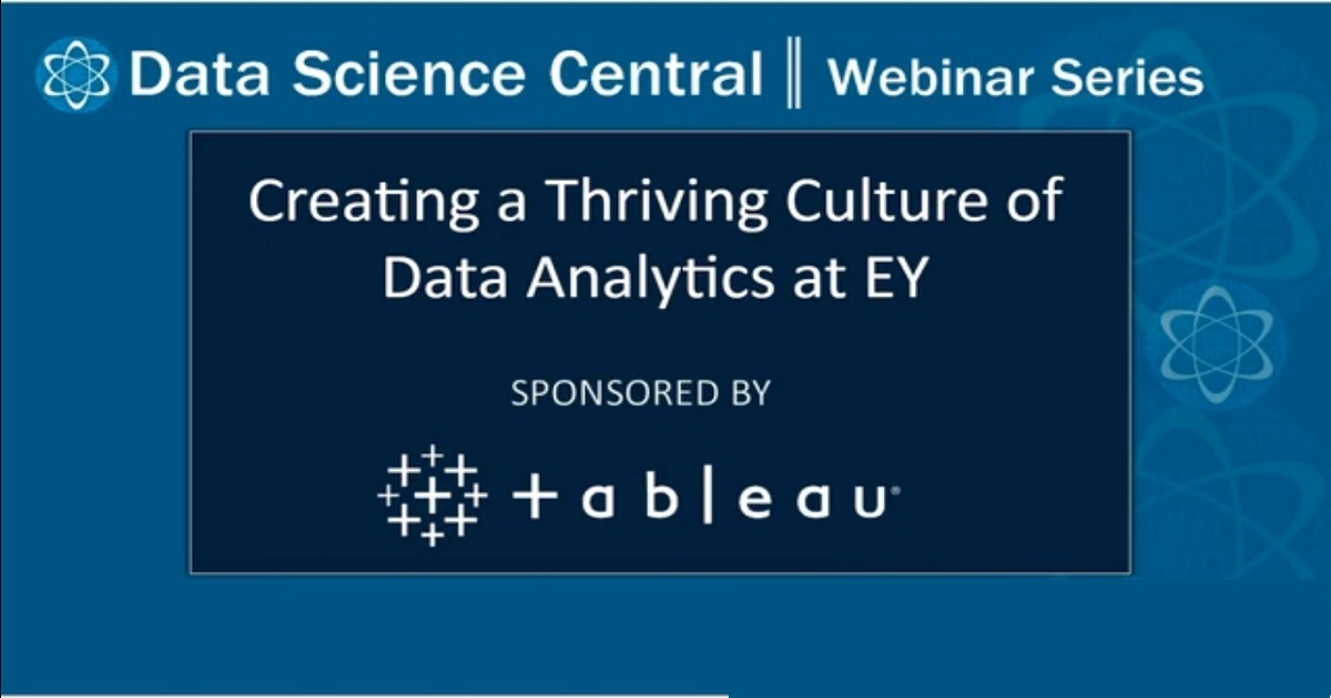 Creating a Thriving Culture of Data Analytics at EY