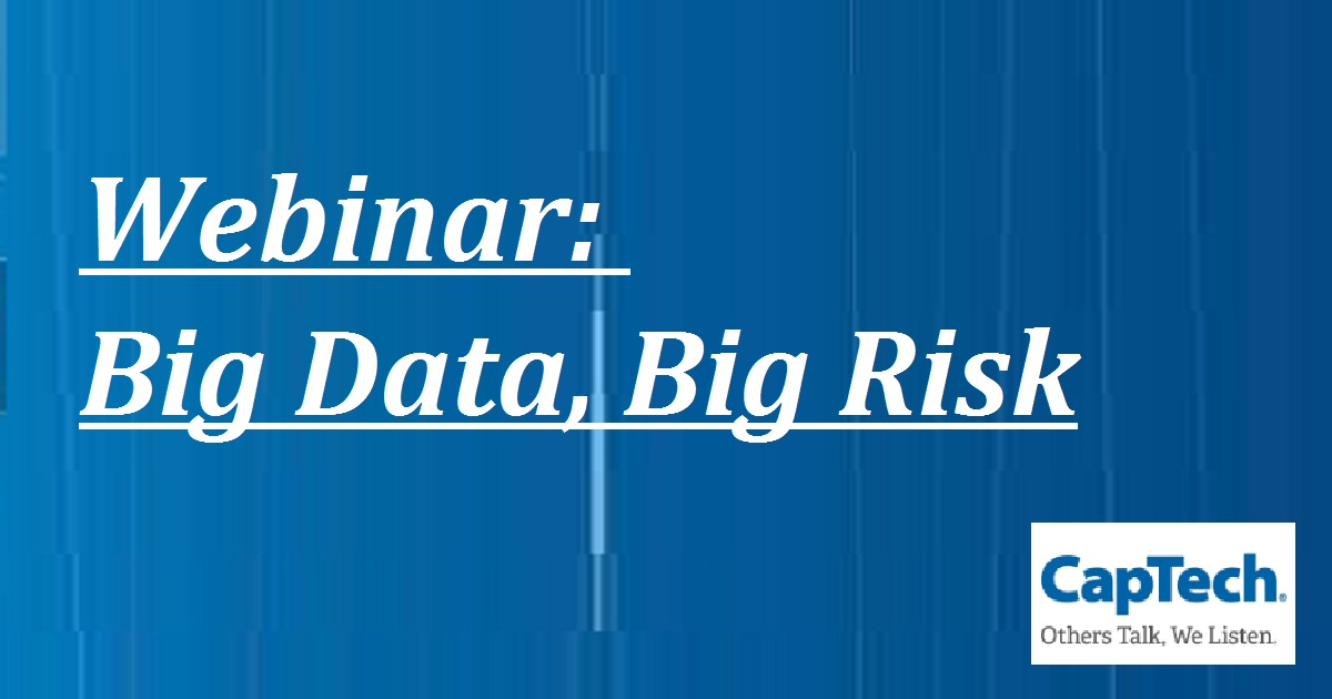 Webinar: Big Data, Big Risk