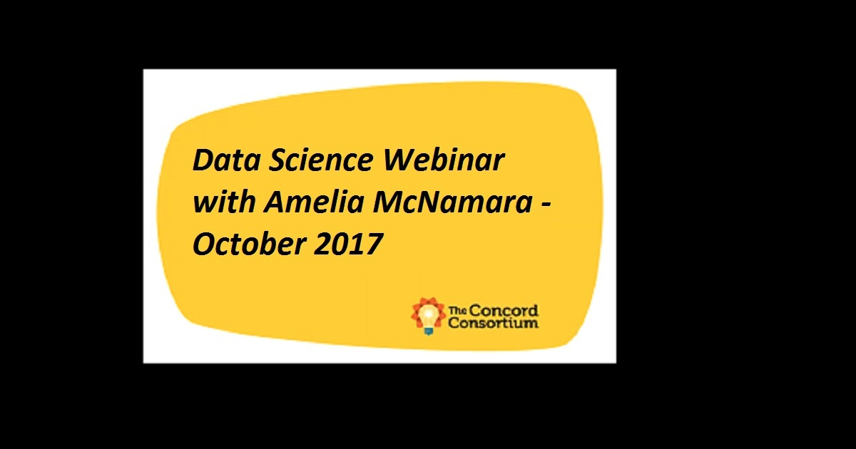 Data Science Webinar with Amelia McNamara - October 2017