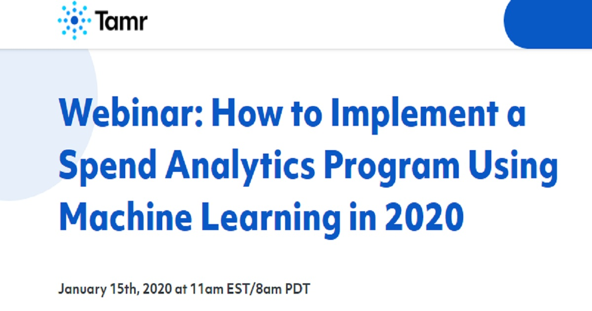 How to Implement a Spend Analytics Program Using Machine Learning in 2020