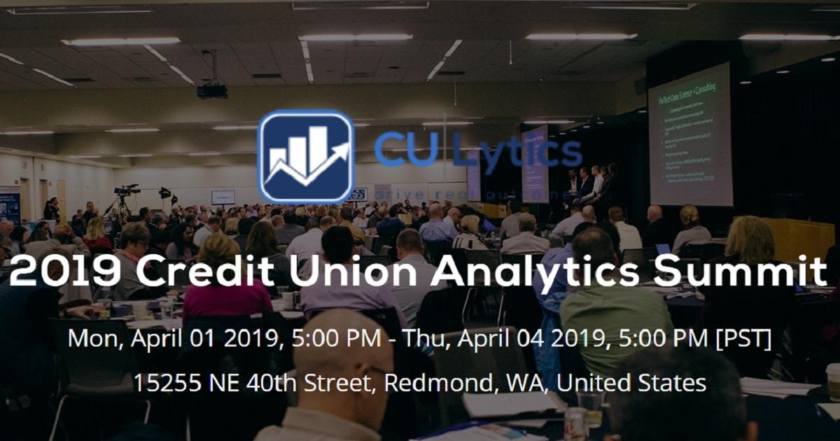 2019 Credit Union Analytics Summit
