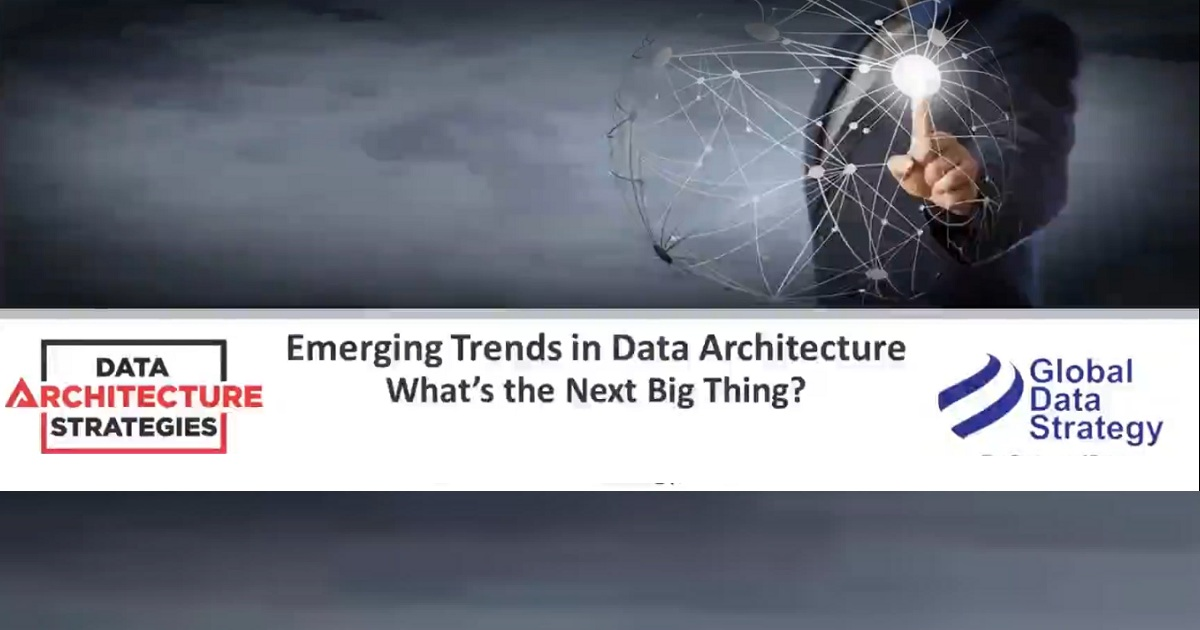 Emerging Trends in Data Architecture – What's the Next Big Thing?