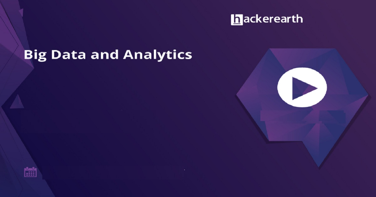 Webinar on Big Data and Analytics