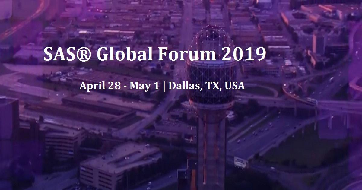 SAS® Global Forum 2019