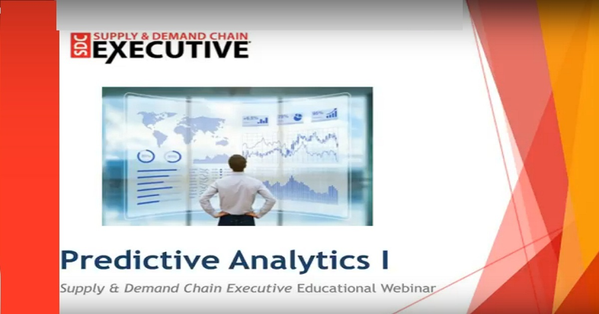 The new role of predictive analytics in supply chain planning