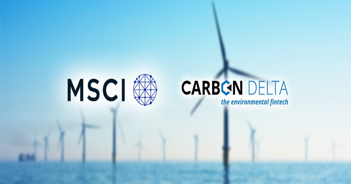 MSCI ACQUIRES SWISS FINTECH AND DATA ANALYTICS STARTUP CARBON DELTA